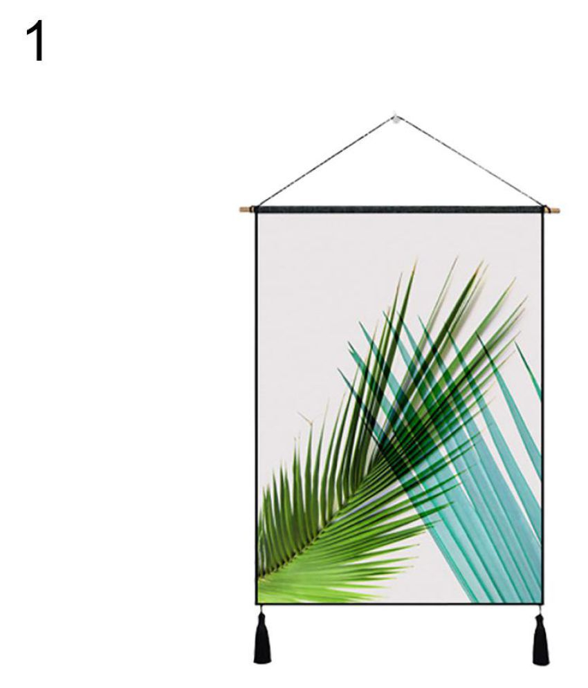 Nordic Palm Leaves Tassel Cloth Tapestry Wall Hanging Throughout Most Recent Blended Fabric Palm Tree Wall Hangings (View 8 of 20)