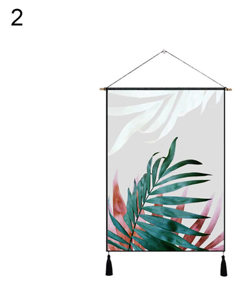 Nordic Palm Leaves Tassel Cloth Tapestry Wall Hanging With 2018 Blended Fabric Leaf Wall Hangings (View 3 of 20)
