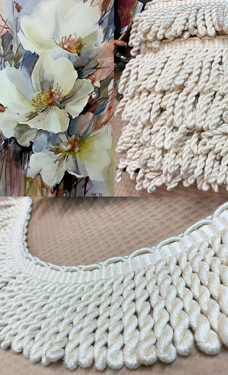 Off White Cotton Blend Bullion Trim Cream Woven Designer For Most Current Blended Fabric Fringed Design Woven With Rod (View 8 of 20)