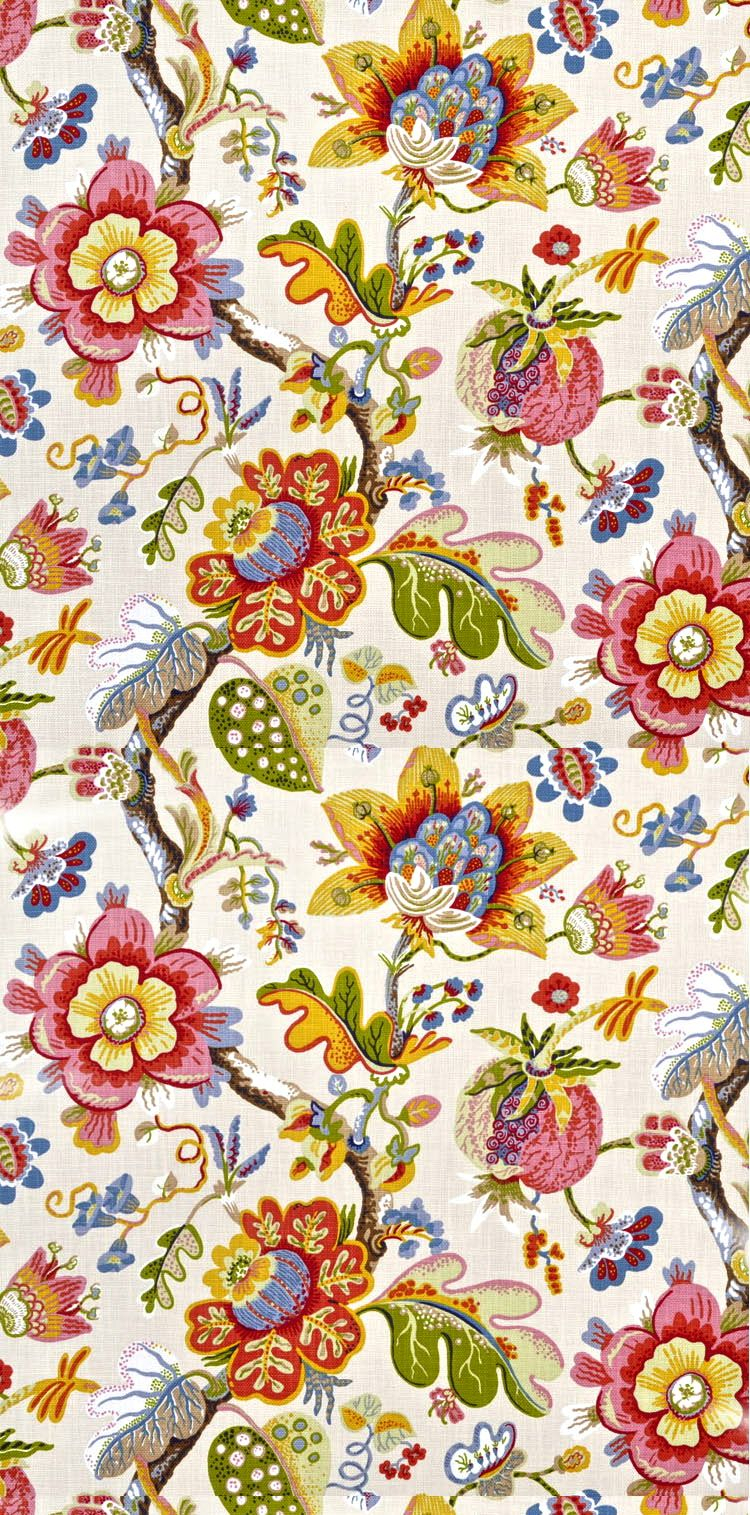 Onlinefabricstore   Greenhouse Fabrics, Warwick Fabrics In Recent Blended Fabric Hidden Garden Chinoiserie Wall Hangings With Rod (View 12 of 20)