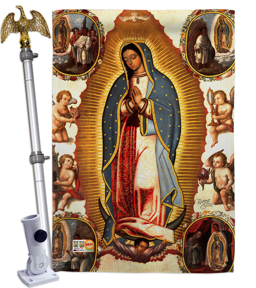 Our Lady Of Guadalupe 2 Sided Polyester 40 In. X 28 In (View 12 of 20)