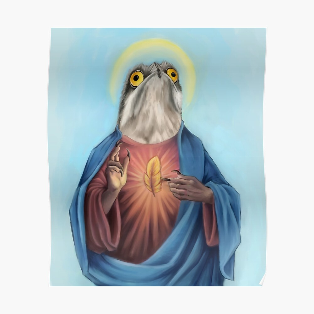"""Our Lord And Savior Potoo Bird"""" Tapestrydragongirl222 With Regard To 2018 Birds Face To Face I European Tapestries (View 18 of 20)"""