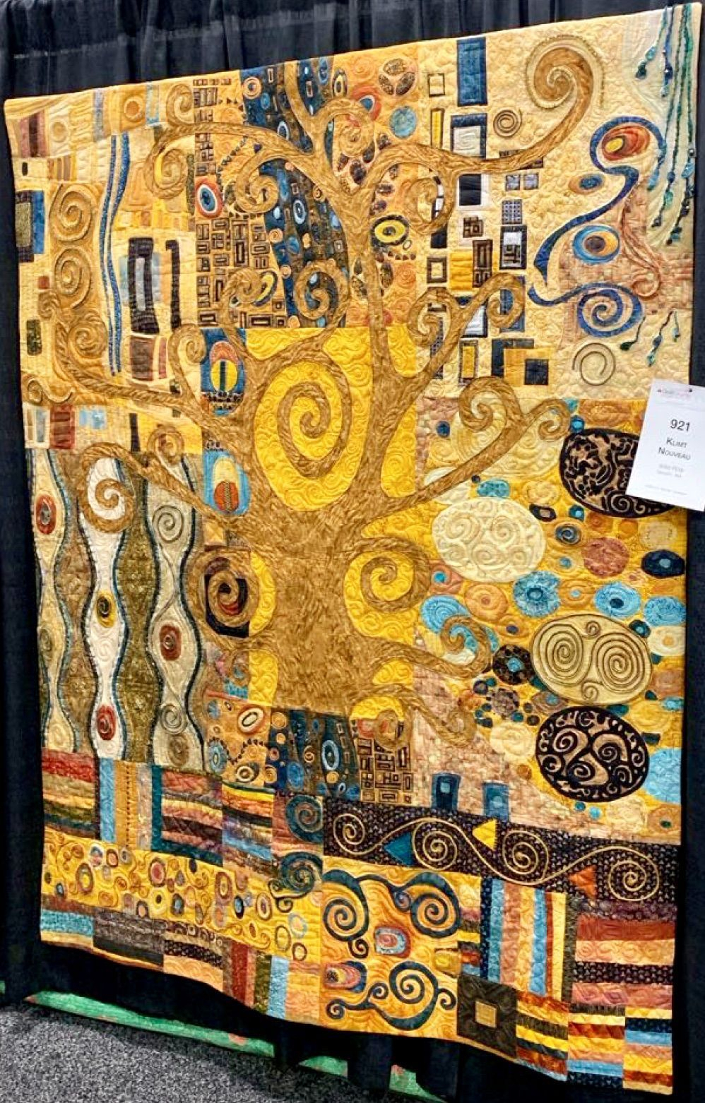 Over 17 Techniques In One Quilt Klimt Nouveauthe Wild For 2017 Blended Fabric Klimt Tree Of Life Wall Hangings (View 8 of 20)
