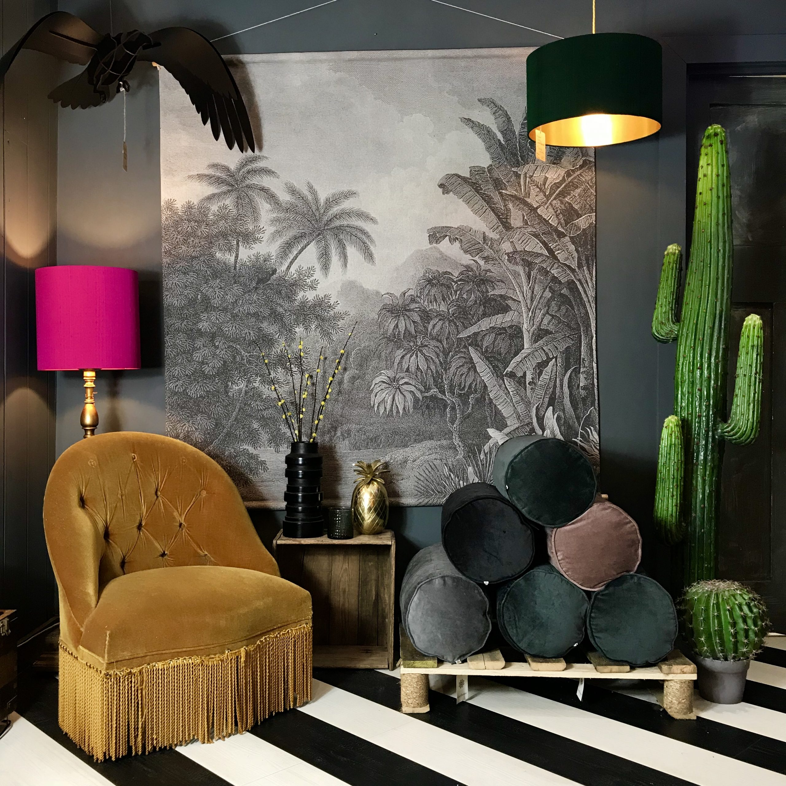 Oversized Jungle Mural Throughout Recent Blended Fabric Palm Tree Wall Hangings (View 6 of 20)