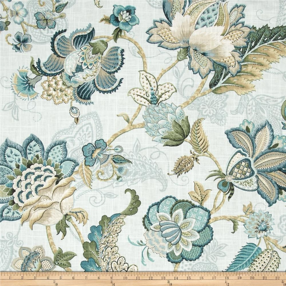 P Kaufmann Adelaide Blend Aqua Mist   Fabric Wall, Fabric Throughout Most Recently Released Blended Fabric Hidden Garden Chinoiserie Wall Hangings With Rod (View 10 of 20)