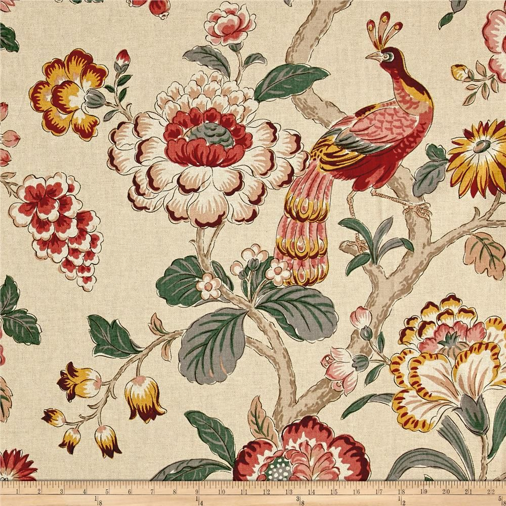 P/kaufmann Blossoming Landscape Travertine From Regarding Most Recent Blended Fabric Hidden Garden Chinoiserie Wall Hangings With Rod (View 13 of 20)