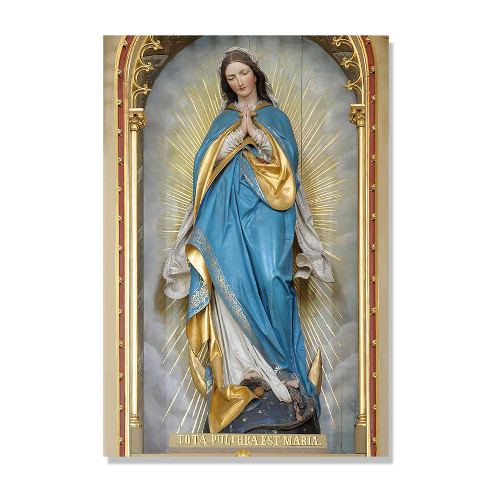 P0439 Our Lady Of Guadalupe Poster Virgin Mary Catholic Icon With Most Popular Blended Fabric Our Lady Of Guadalupe Wall Hangings (View 10 of 20)