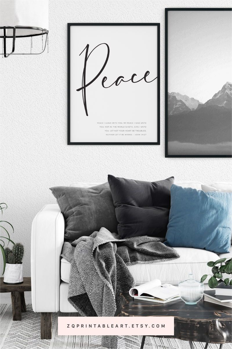 Peace I Leave With You – John 14:27 | Modern Bible Verse Throughout Current Peace I Leave With You Wall Hangings (View 5 of 20)