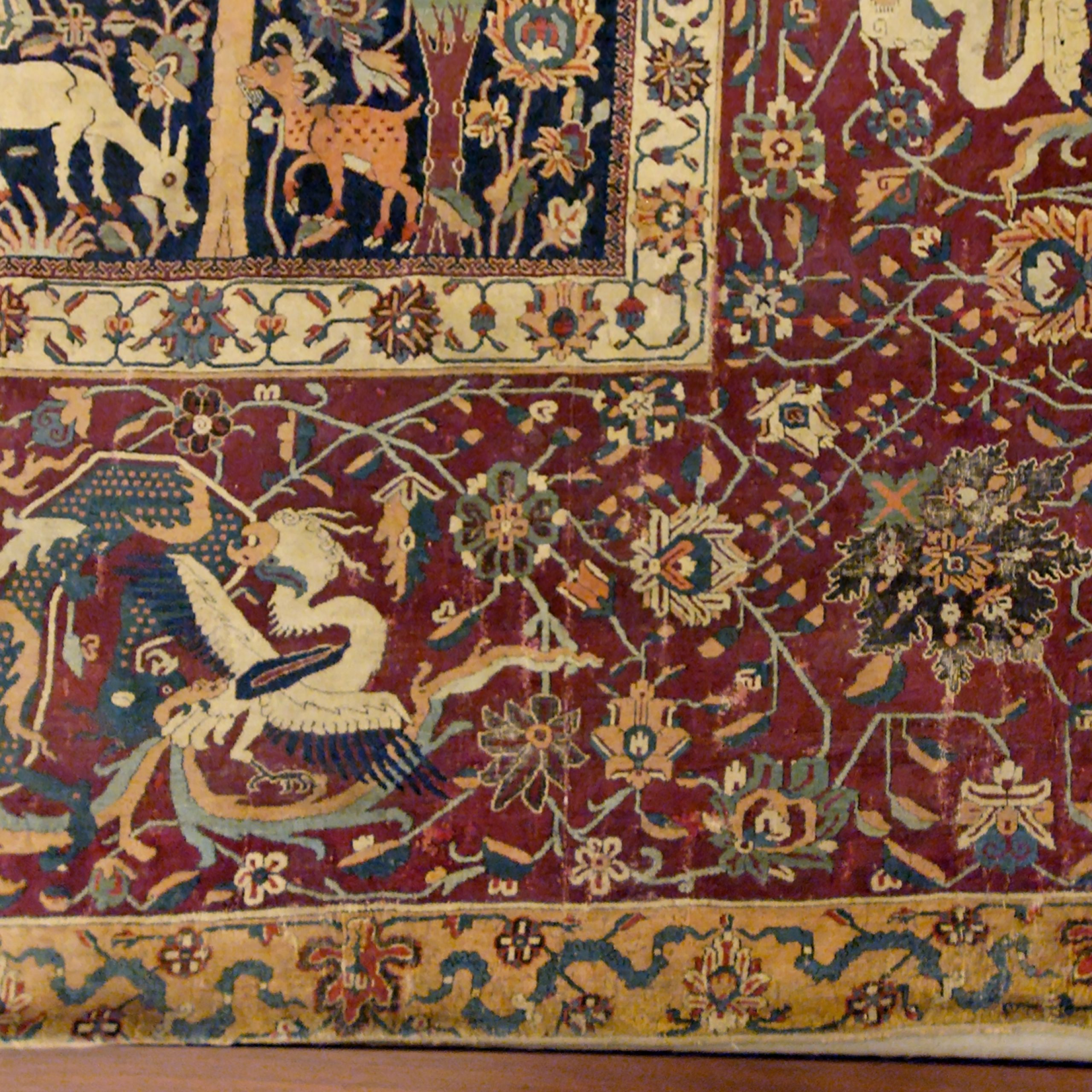 Persian Carpet – Wikipedia Regarding 2017 Blended Fabric European Five English Horses Tapestries (View 12 of 20)