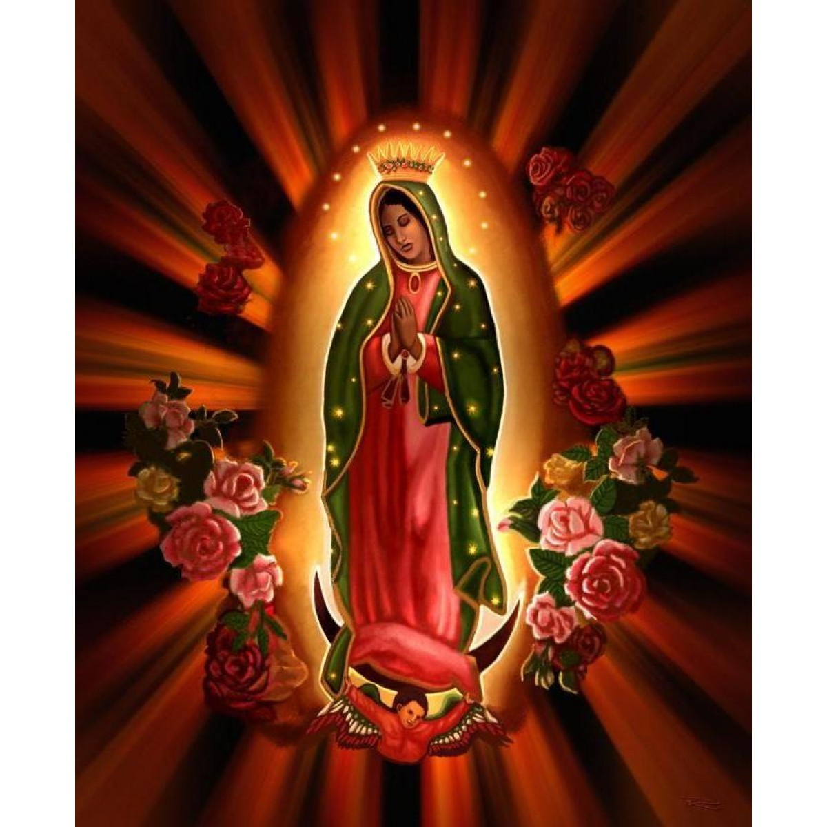 Personalized Iron On Transfers! Our Lady Of Guadalupe T In Most Current Blended Fabric Our Lady Of Guadalupe Wall Hangings (View 16 of 20)