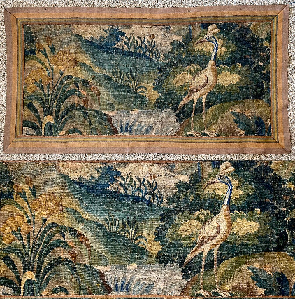 Pin On Antique Textiles, Tapestries Throughout Current Blended Fabric Pheasant And Doe European Tapestries Wall Hangings (View 5 of 20)