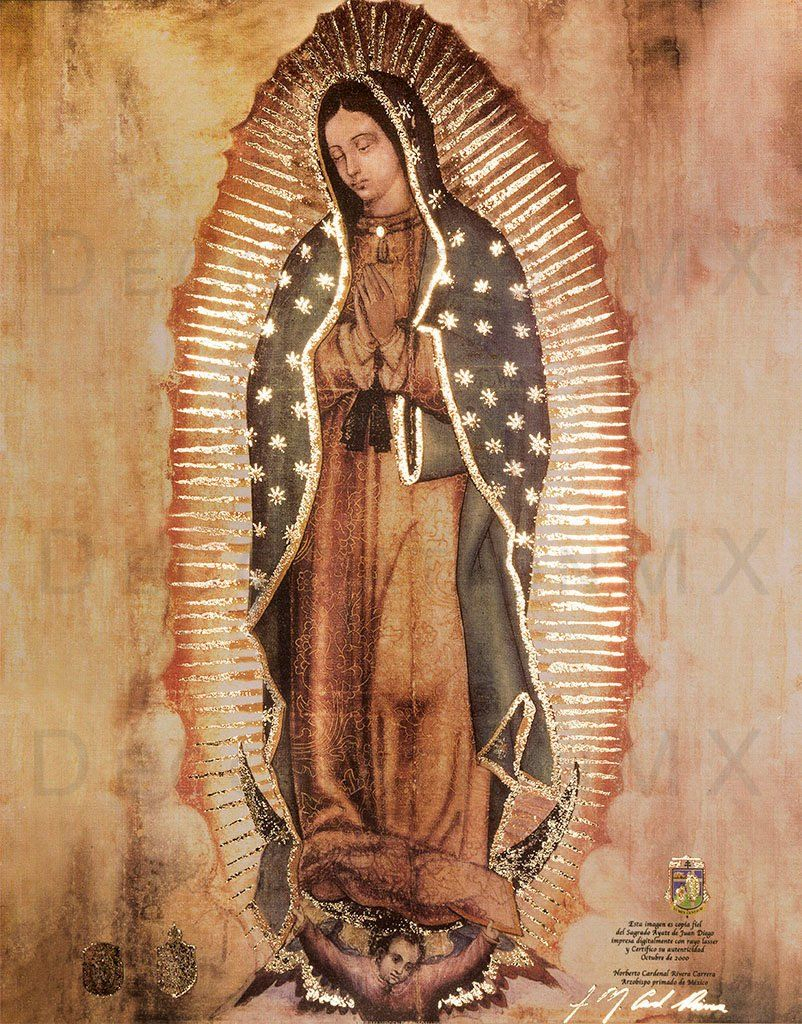Pin On Arte Pertaining To 2018 Blended Fabric Our Lady Of Guadalupe Wall Hangings (View 4 of 20)