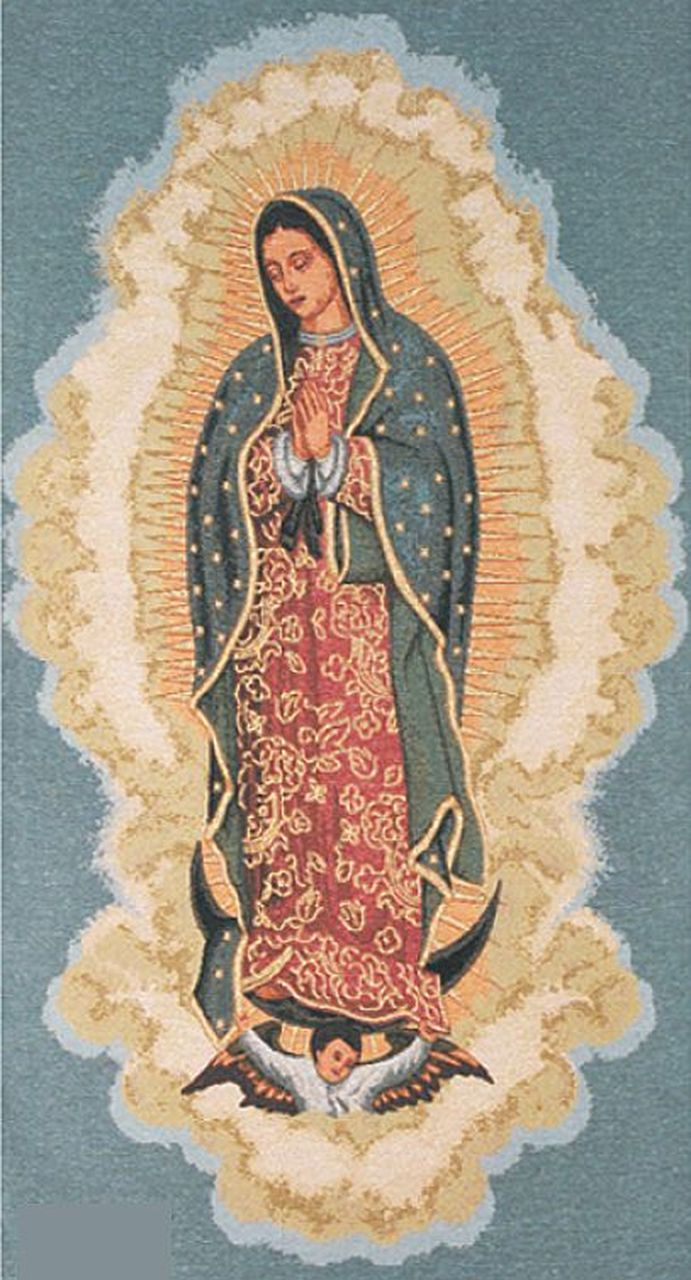 Pin On Blessed Mother Intended For Most Recently Released Blended Fabric Blessings Of Christmas Tapestries (View 3 of 20)