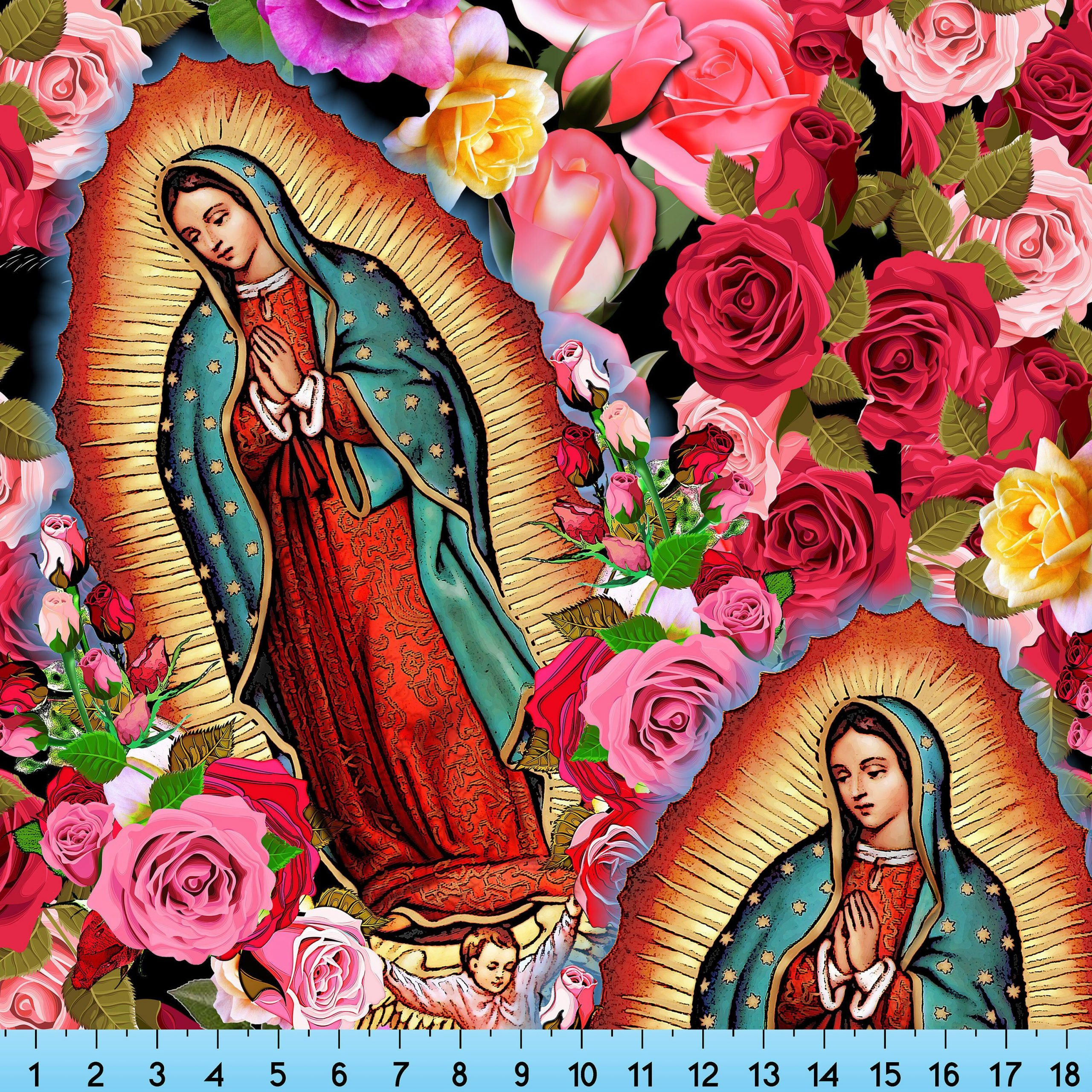Pin On Our Lady Of Guadalupe, Virgin Mary Intended For 2017 Blended Fabric Our Lady Of Guadalupe Wall Hangings (View 6 of 20)