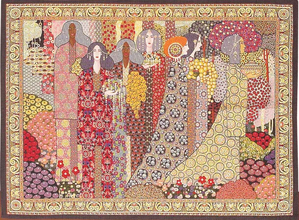 Pin On Secession Art In Most Up To Date Blended Fabric Aladin European Wall Hangings (View 4 of 20)