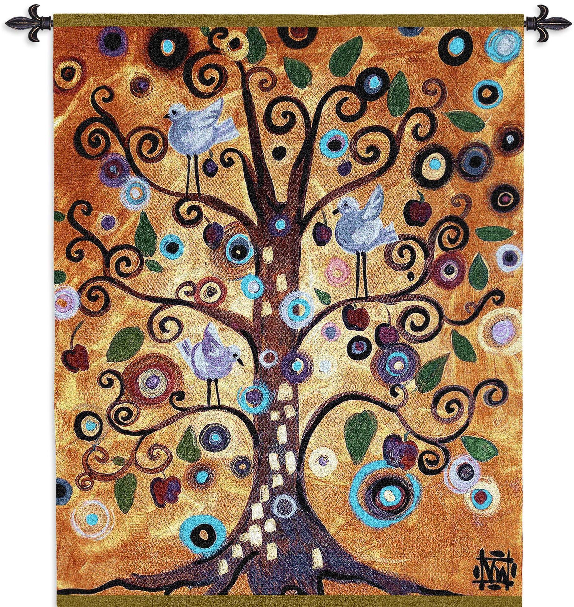 Pin On Tapestries And Wall Hangings With Latest Blended Fabric Klimt Tree Of Life Wall Hangings (View 7 of 20)