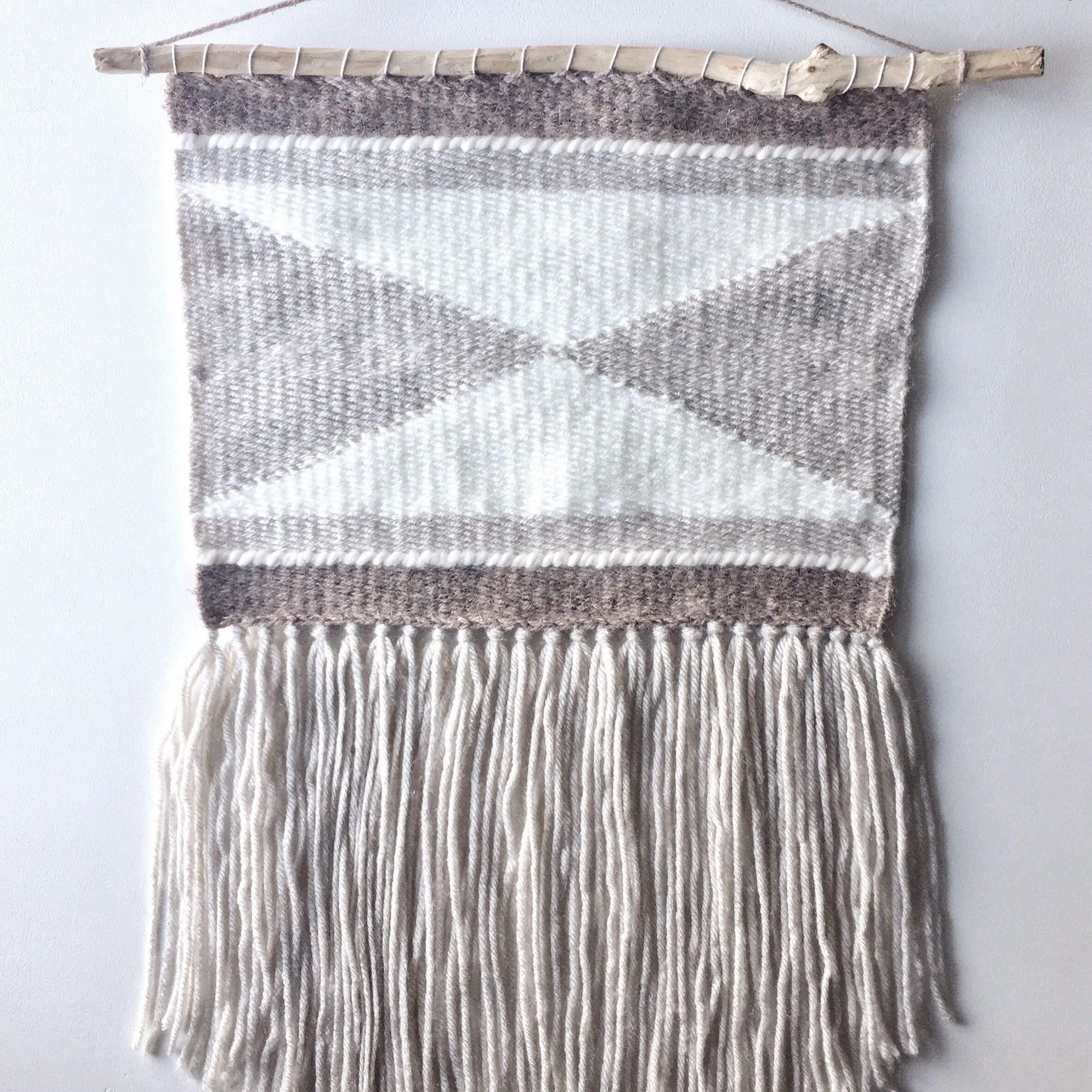 Pin On Weaving Pertaining To Most Current Blended Fabric Hello Beauty Full Wall Hangings (View 17 of 20)