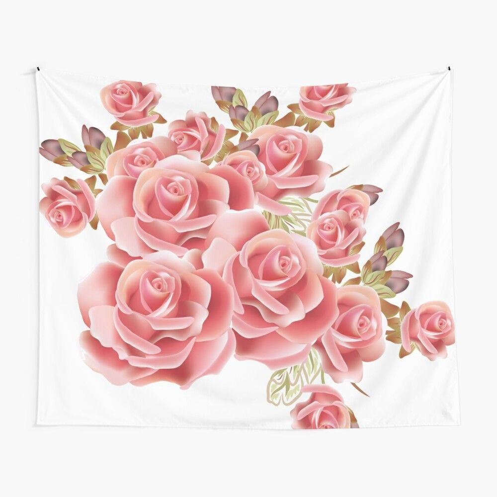 Pink Rosesisabellshop | Redbubble In 2020 | Pink Roses With 2018 Roses I Tapestries (View 6 of 20)