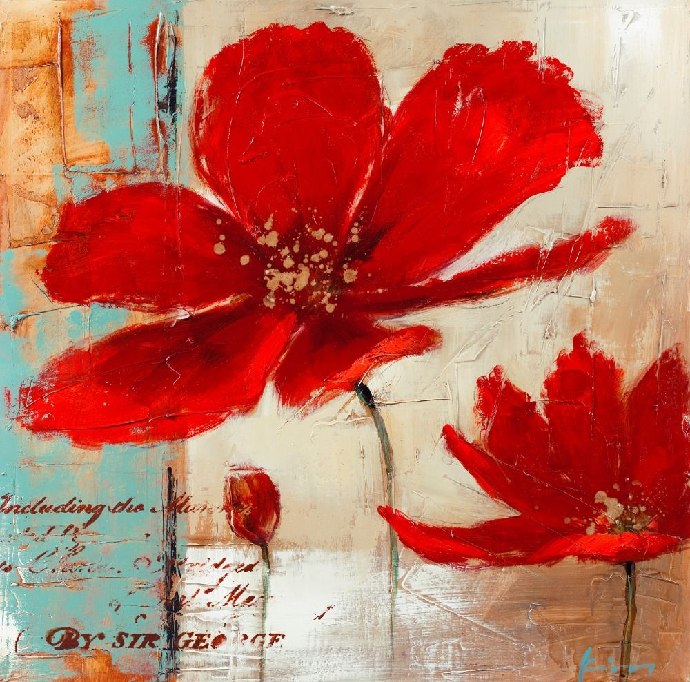 Pinmeraki Ar On Cuadrcs | Flower Art, Pop Art Painting With Most Recent Blended Fabric Poppy Red Wall Hangings (View 4 of 20)