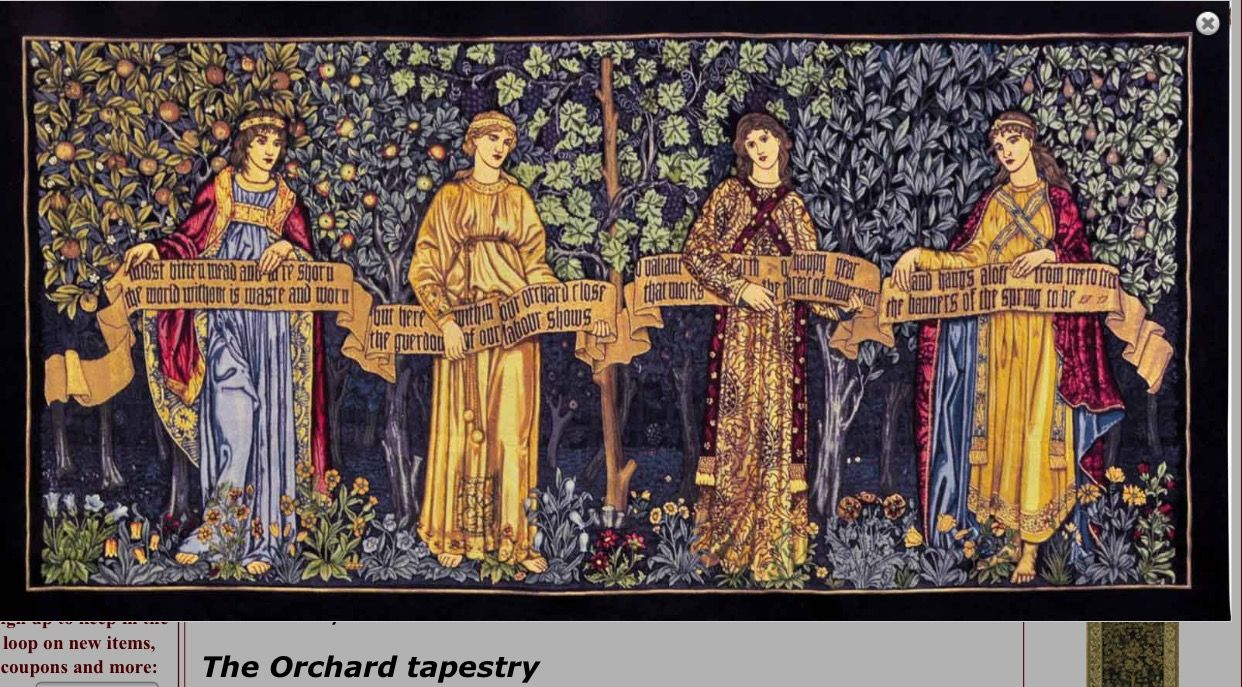 Pinrebekah Myers On Tapestries | Fine Art Tapestries Pertaining To Best And Newest Blended Fabric Mucha Spring European Wall Hangings (View 9 of 20)