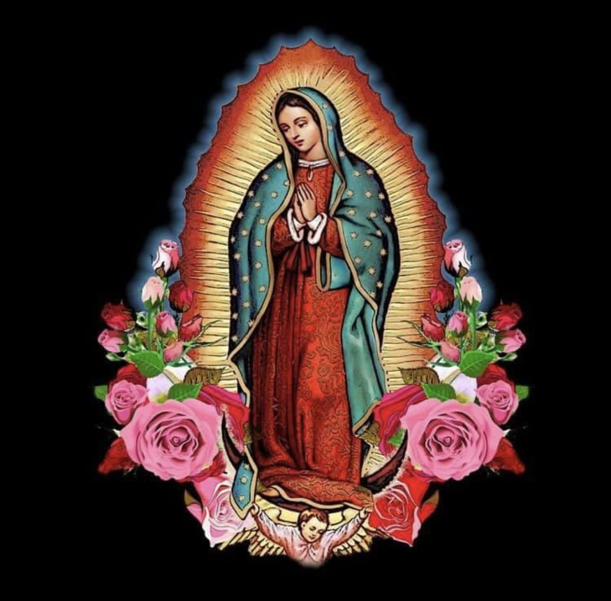 Pintrippybrian14 On Tacuachiando | Virgin Mary Art In Most Current Blended Fabric Our Lady Of Guadalupe Wall Hangings (View 18 of 20)
