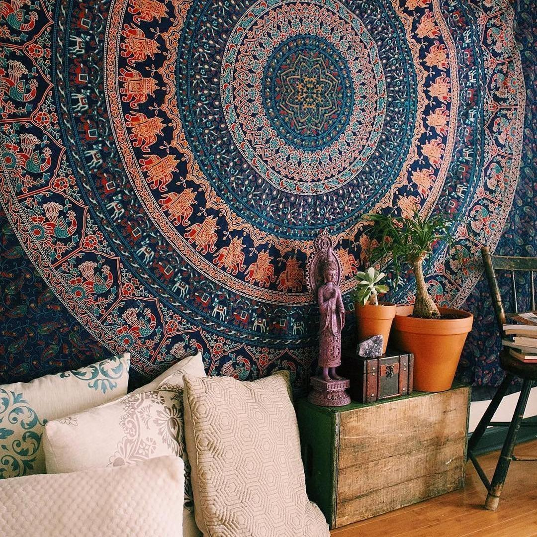 Plum & Bow Bohemian Mandala Wall Hanging Tapestry In Recent Blended Fabric Southwestern Bohemian Wall Hangings (View 16 of 20)