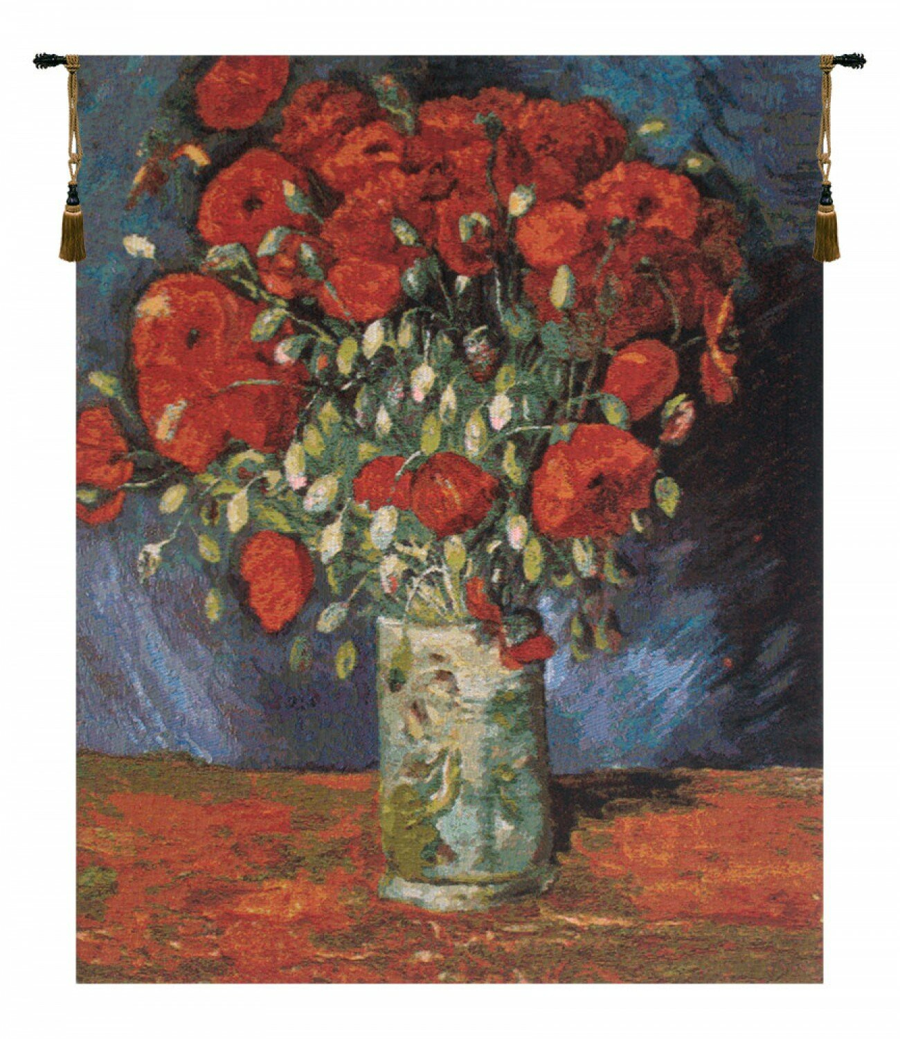 Poppy Flowersvan Gogh Tapestry Throughout Newest Blended Fabric Poppy Red Wall Hangings (View 9 of 20)