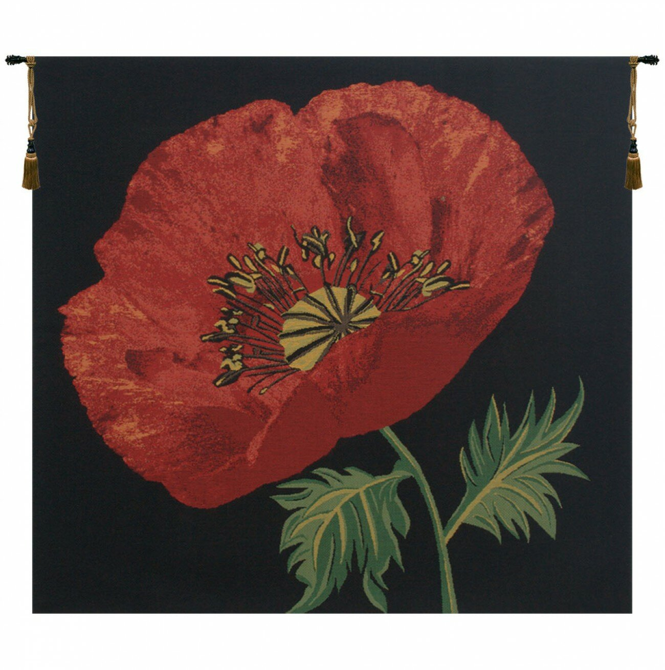 Featured Photo of Blended Fabric Poppy Red Wall Hangings