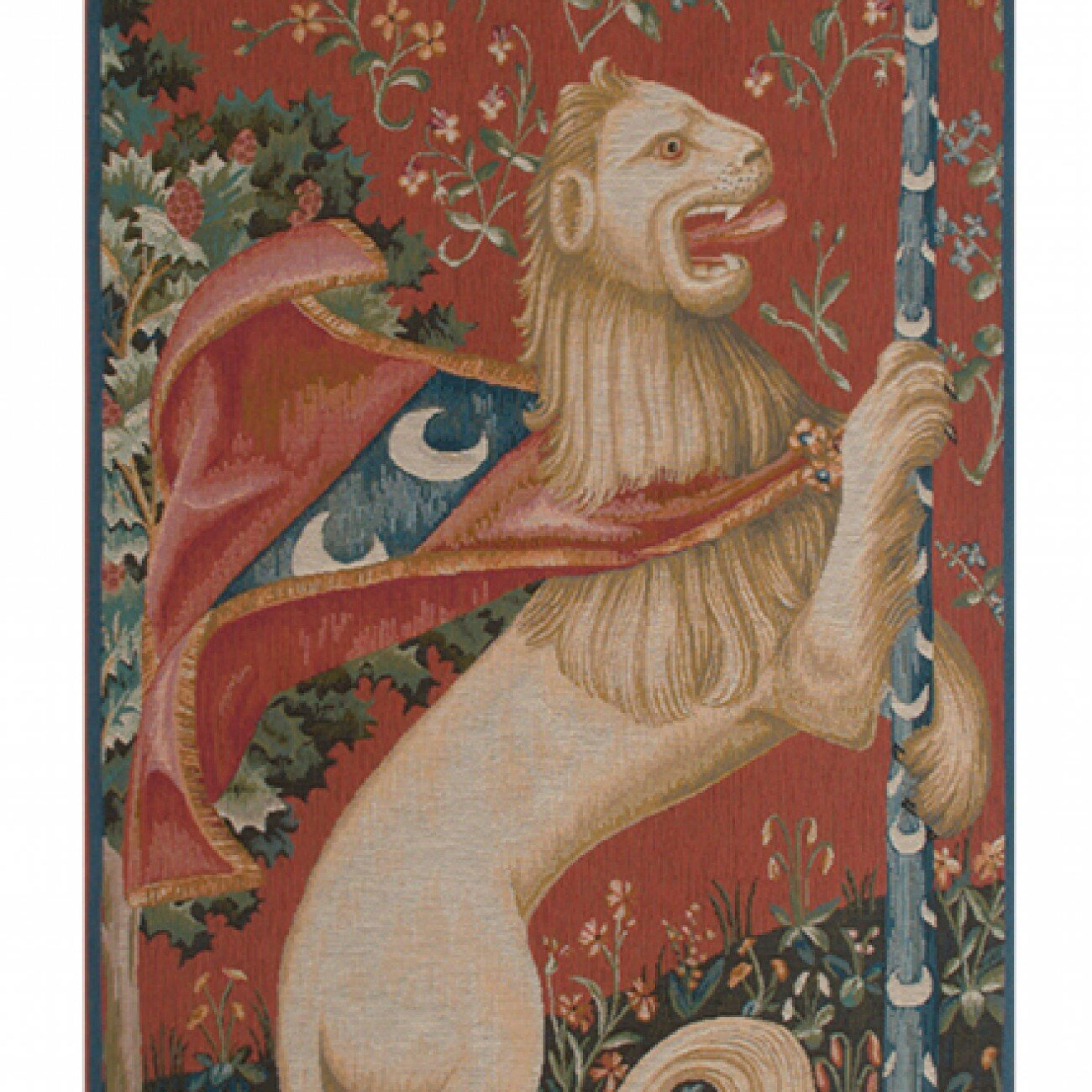 Portiere Lion European Tapestry Throughout 2017 Lion I European Tapestries (View 2 of 20)
