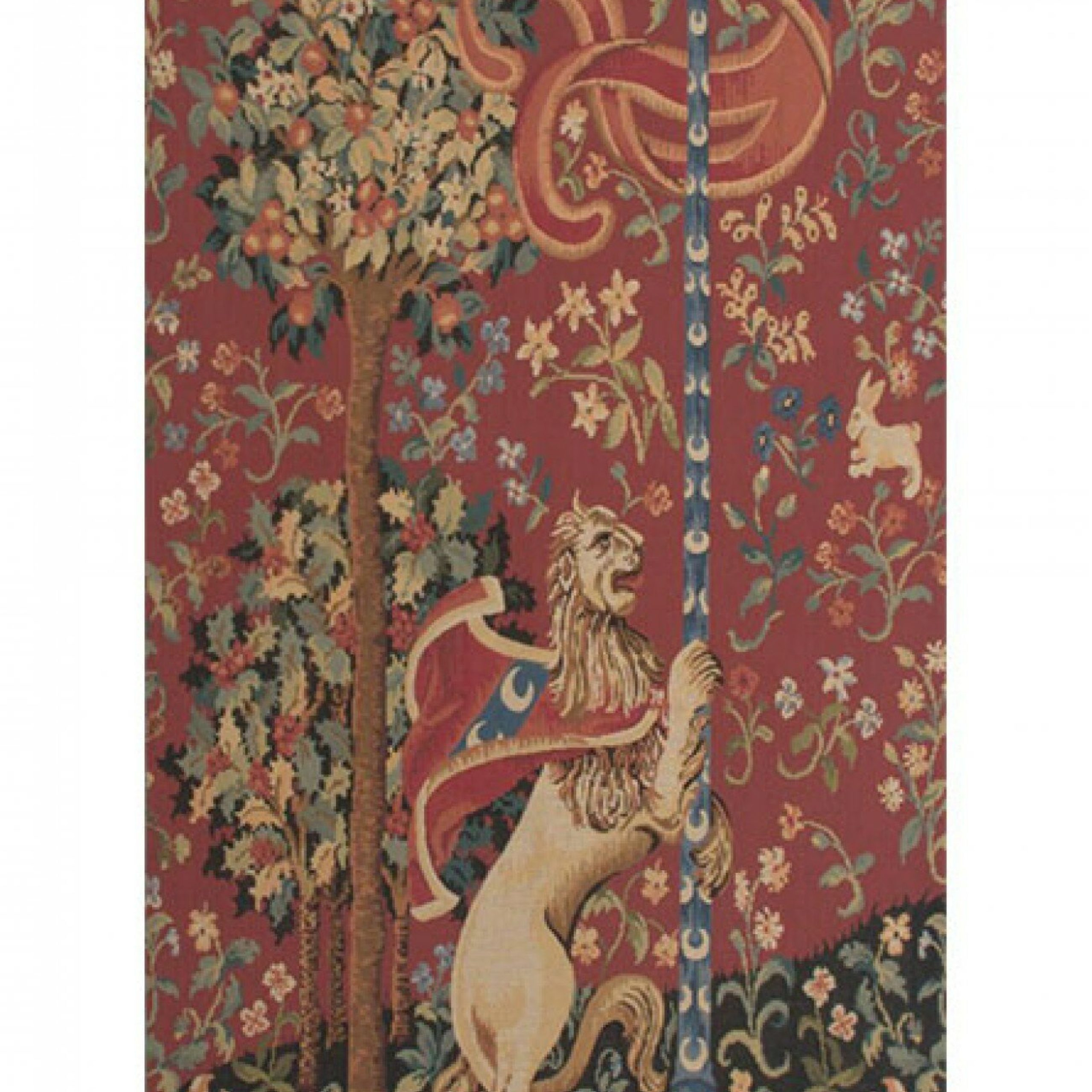 Portiere Medieval Lion European Wall Hanging With Recent Lion I European Tapestries (View 4 of 20)