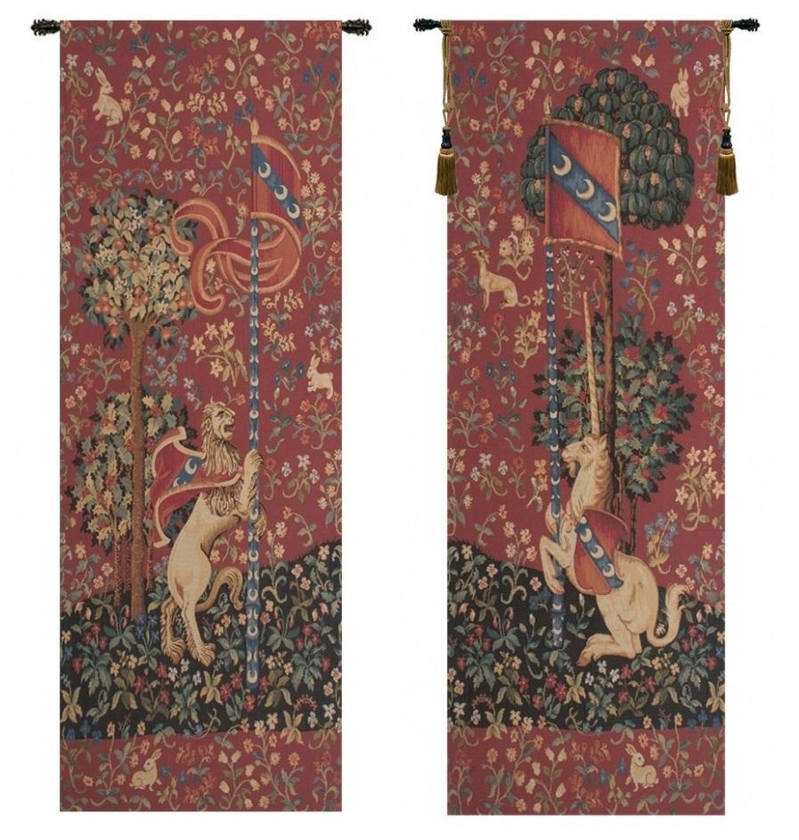 Portiere Medieval Unicorn And Lion European Wall Tapestries Regarding 2018 Lion I European Tapestries (View 3 of 20)