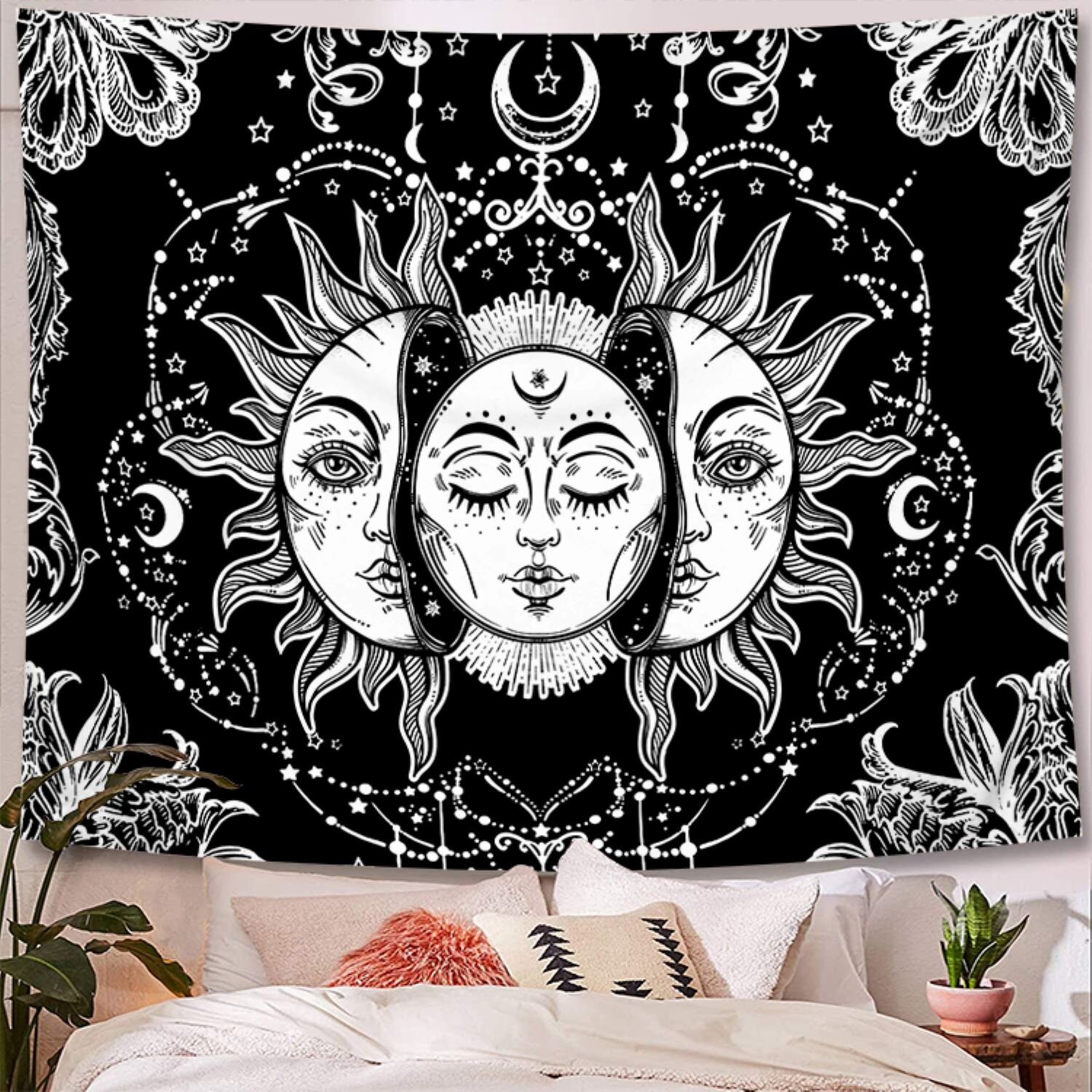 Psychedelic Sun Polyester Tapestry With Hanging Accessories Included Pertaining To Recent Blended Fabric Clancy Wool And Cotton Wall Hangings With Hanging Accessories Included (View 13 of 20)