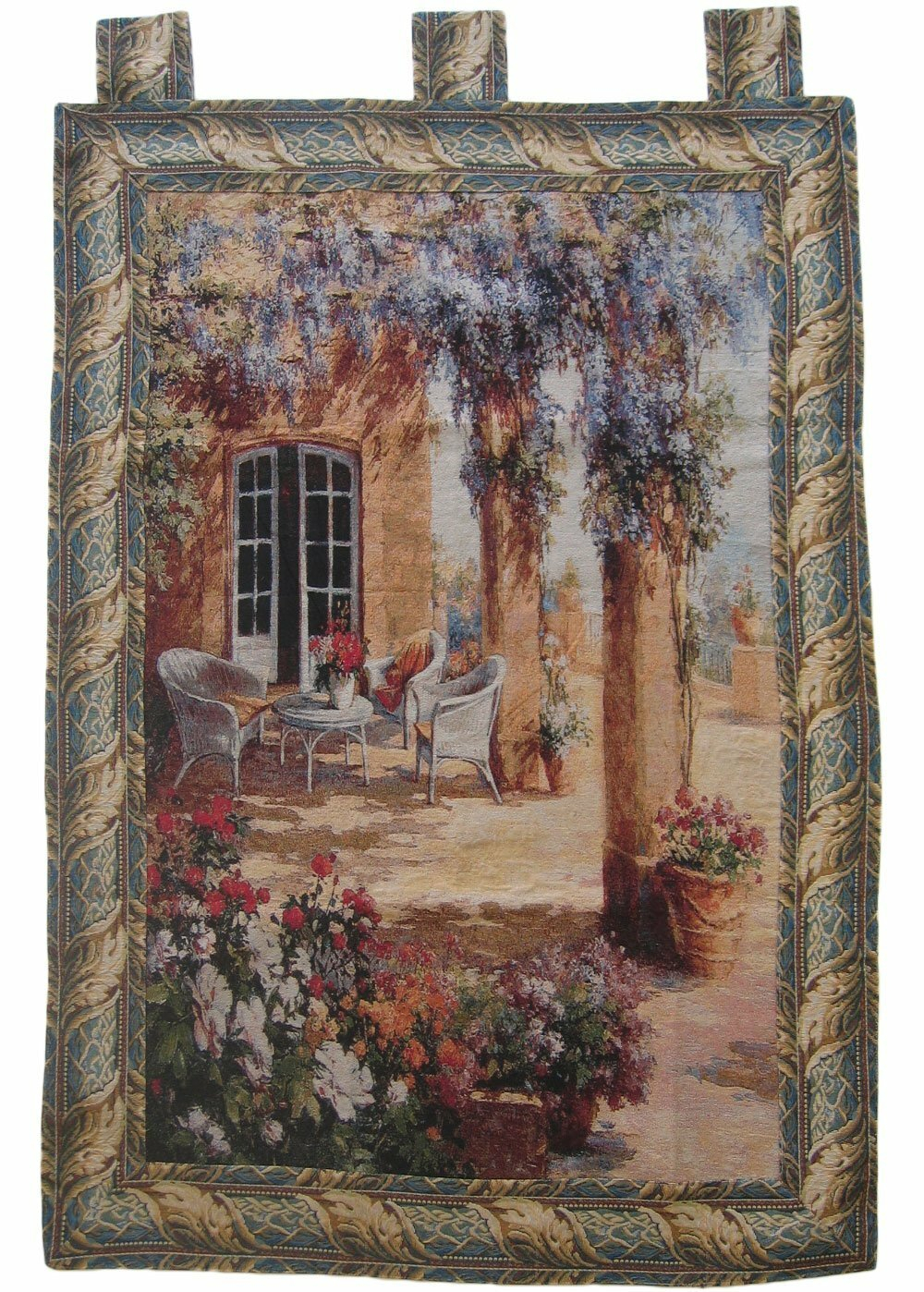 Quiet Evening Woven Tapestry Regarding Most Up To Date Blended Fabric Classic French Rococo Woven Tapestries (View 6 of 20)