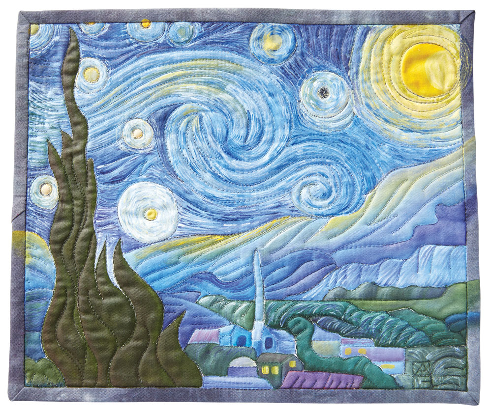 Quilting With The Masters: Thread Painting At The Next Level Regarding Best And Newest Blended Fabric Van Gogh Terrace Wall Hangings (View 13 of 20)