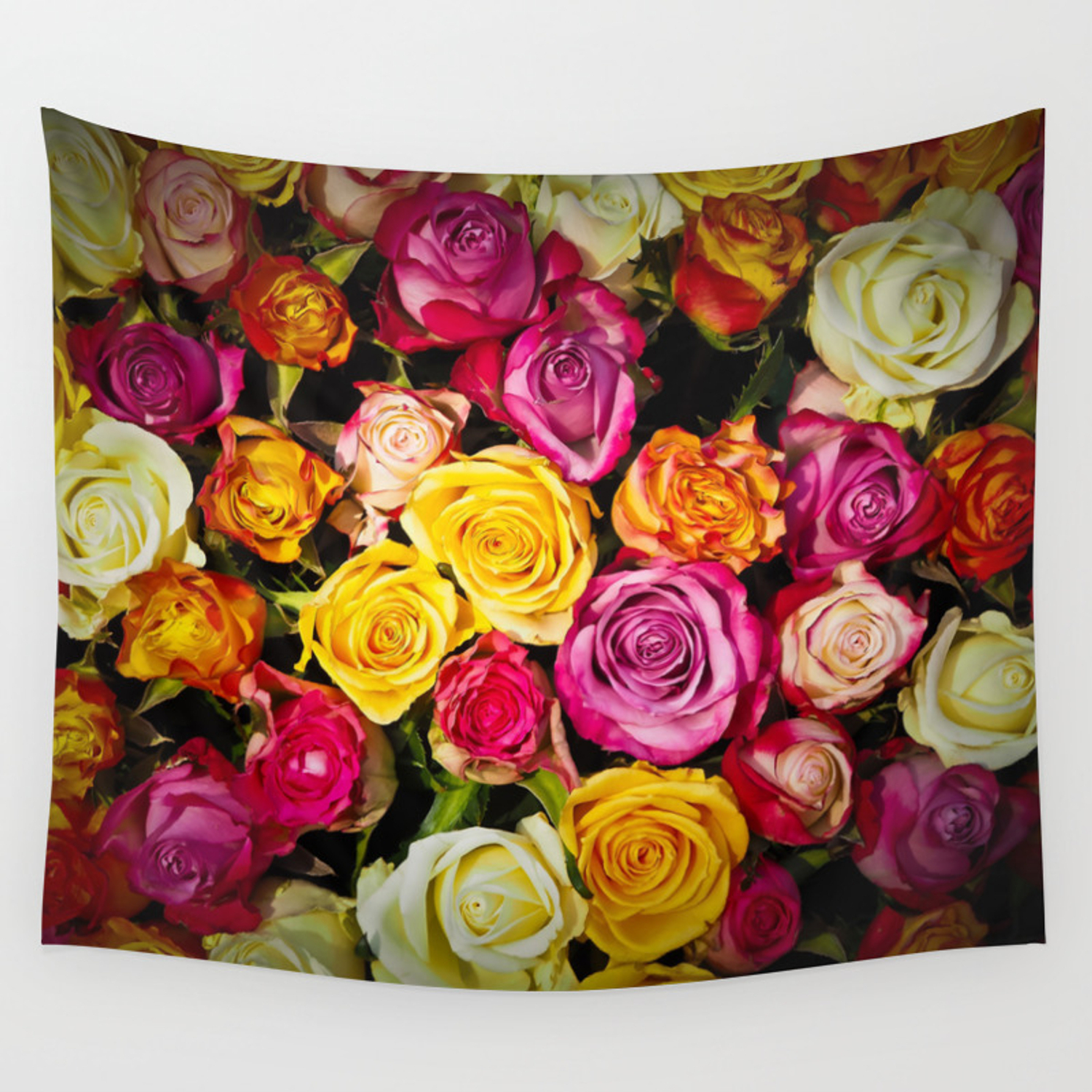 Real Roses Pattern Wall Tapestryartcristoph Intended For 2017 Roses I Tapestries (View 11 of 20)
