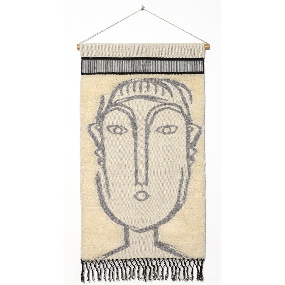 "Rugsmith Gray Matisse Contemporary Modern Wall Hanging, 2'1"" X 3'4"" Pertaining To Most Current Blended Fabric Southwestern Bohemian Wall Hangings (View 15 of 20)"