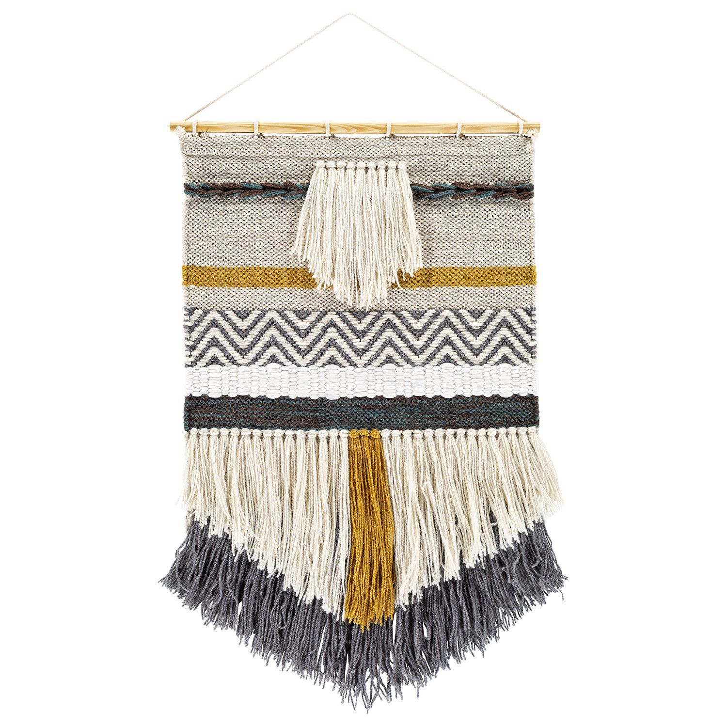 Russell Wall Hanging | Fabric Wall Hanging, Woven Wall With Most Recently Released Blended Fabric Saiful Wall Hangings With Rod (View 5 of 20)