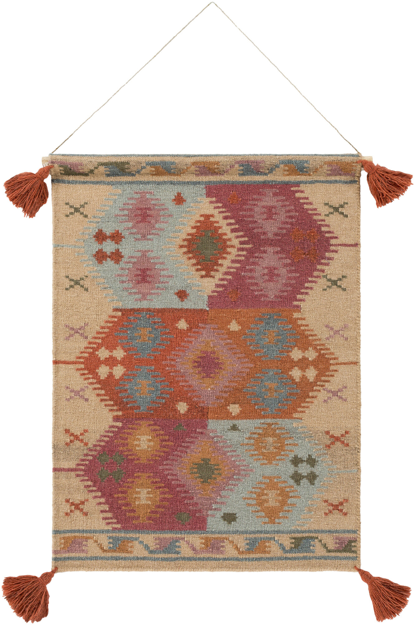 Sariah Wool Wall Hanging With Hanging Accessories Included Pertaining To Most Up To Date Blended Fabric Clancy Wool And Cotton Wall Hangings With Hanging Accessories Included (View 4 of 20)