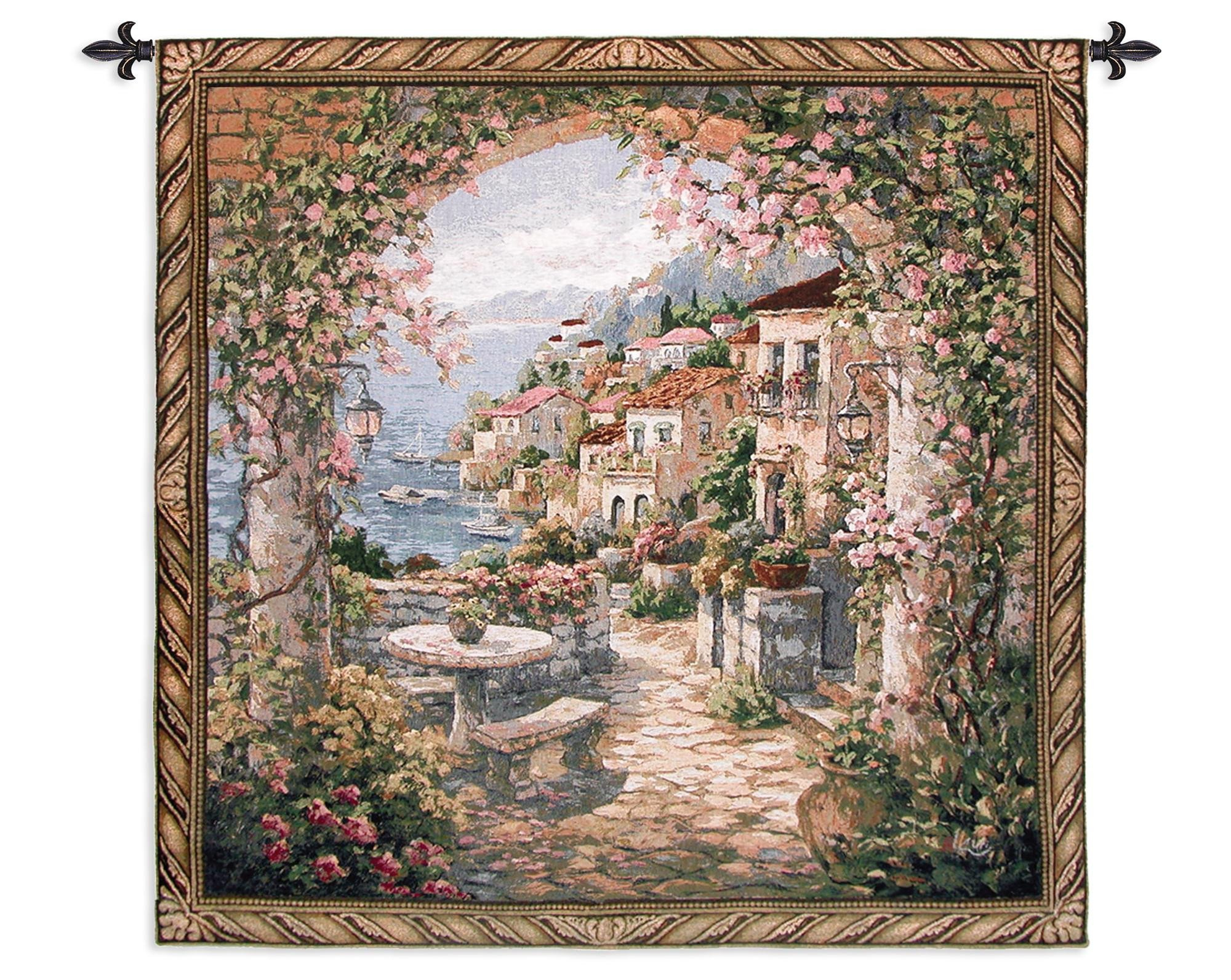 Seaside Hideaway Wall Hanging | Fine Art Tapestries Throughout Recent Blended Fabric Garden Of Gethsemane Tapestries And Wall Hangings (View 3 of 20)