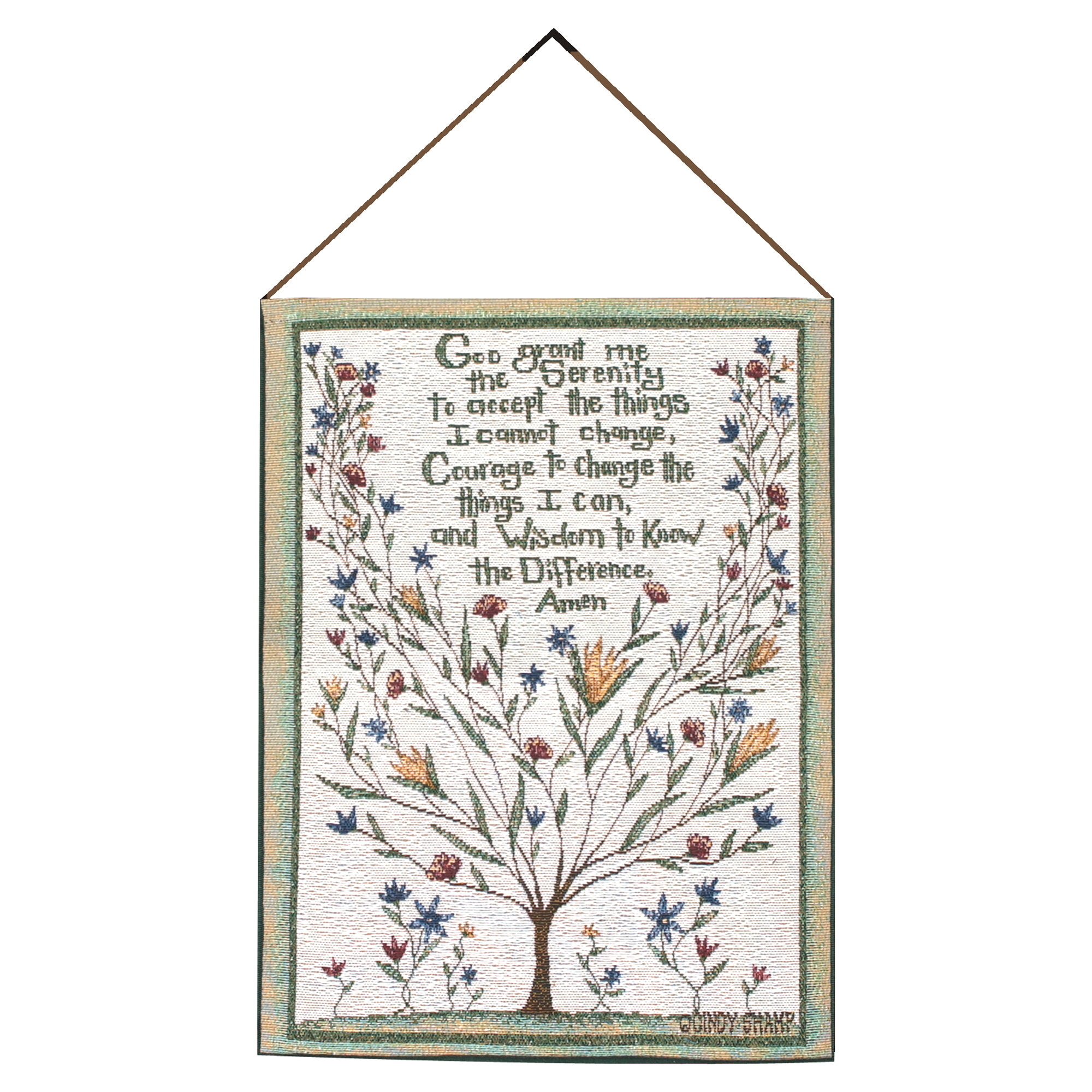 Serenity Prayer Tapestry And Wall Hanging Intended For Current Blended Fabric Trust In The Lord Tapestries And Wall Hangings (View 6 of 20)