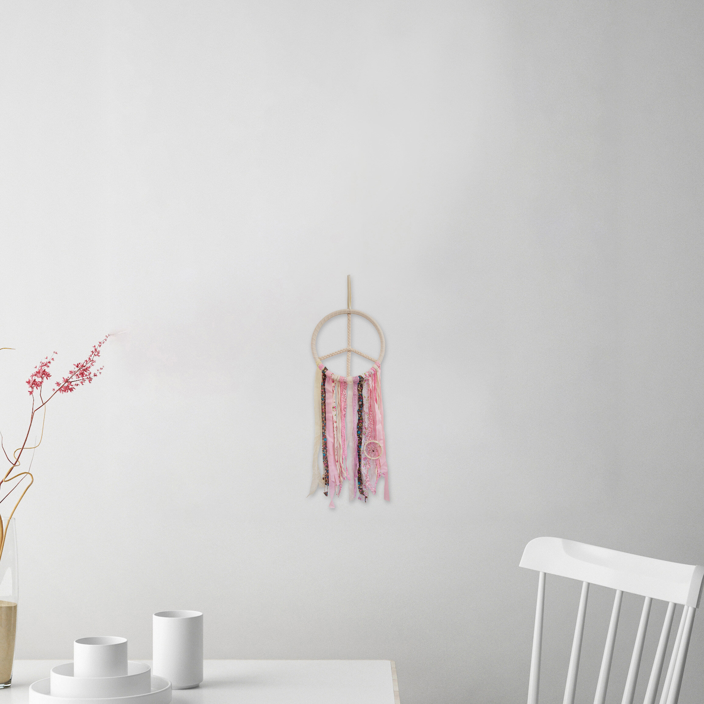 Shabby Elegance Dream Catcher Wall Hanging Within Most Current Blended Fabric Hohl Wall Hangings With Rod (View 8 of 20)