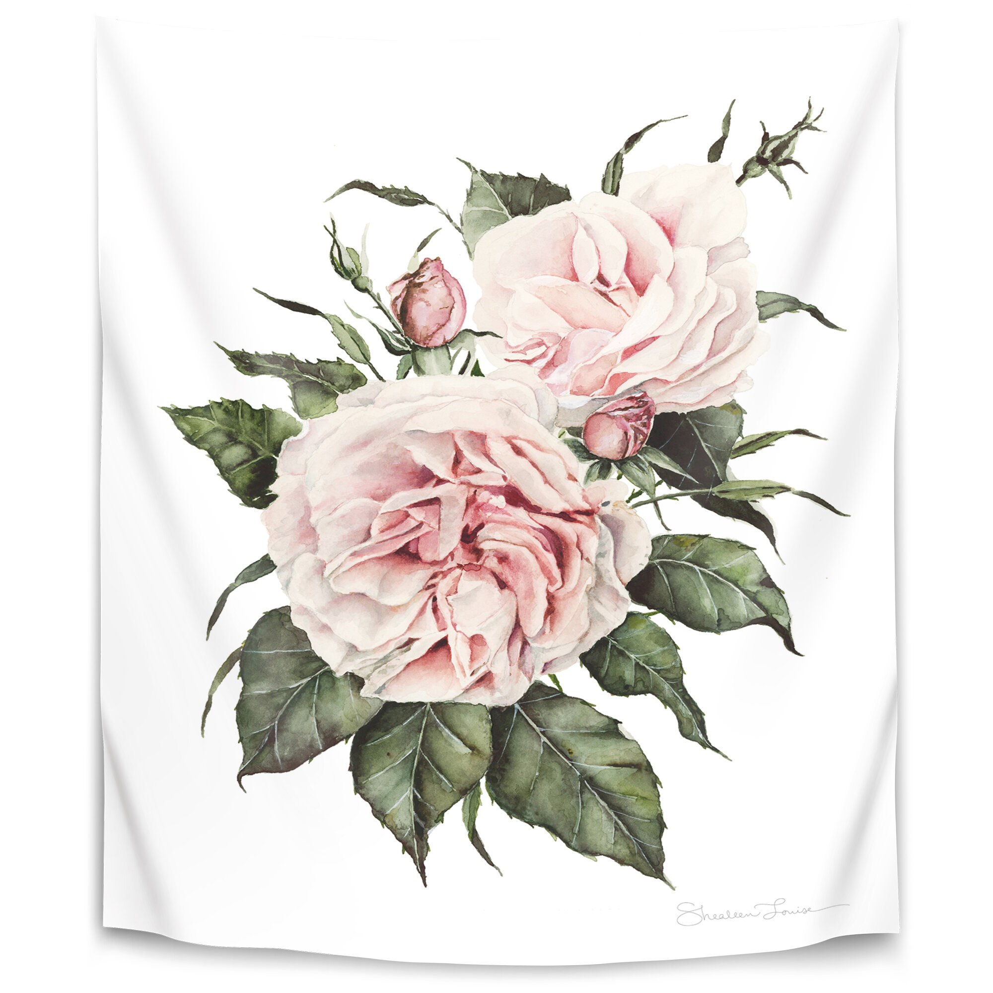 Shealeen Louise Garden Roses Tapestry Regarding Most Popular Roses I Tapestries (View 18 of 20)