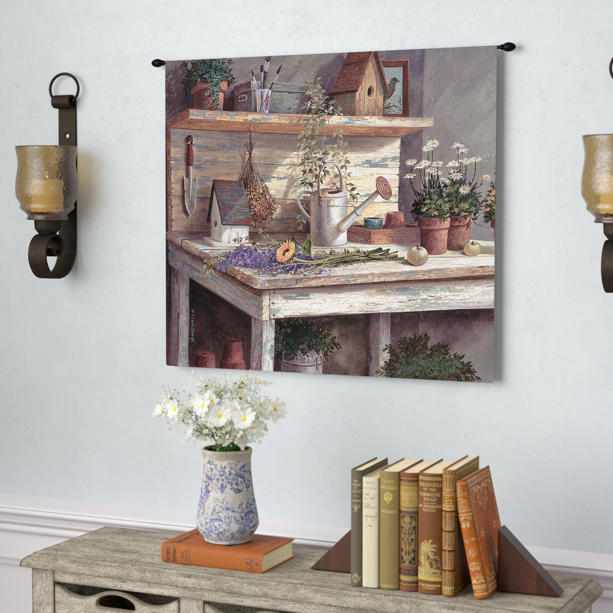 Simple Pleasures Tapestry Within Most Popular Blended Fabric Havenwood Chinoiserie Tapestries Rod Included (View 17 of 20)