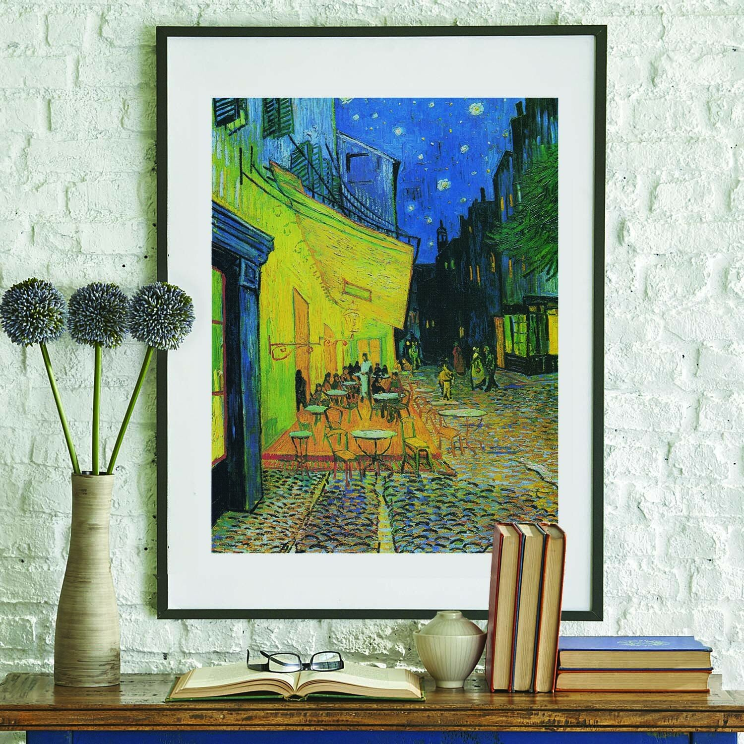 Spasova Café Terrence At Night 1888vincent Van Gogh Painting Wall Decal Inside Most Recently Released Blended Fabric Van Gogh Terrace Wall Hangings (View 10 of 20)