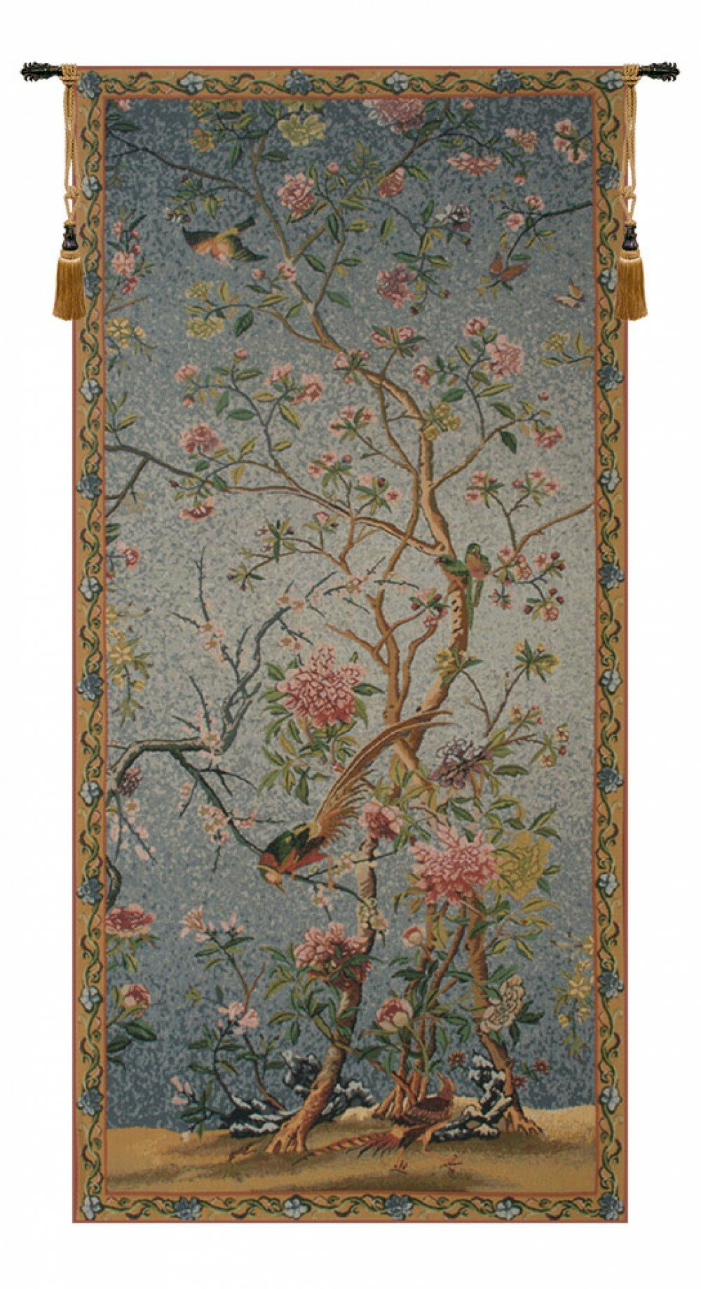 Spring Blossom Tapestry Intended For Most Recent Blended Fabric Ethereal Days Chinoiserie Wall Hangings With Rod (View 4 of 20)