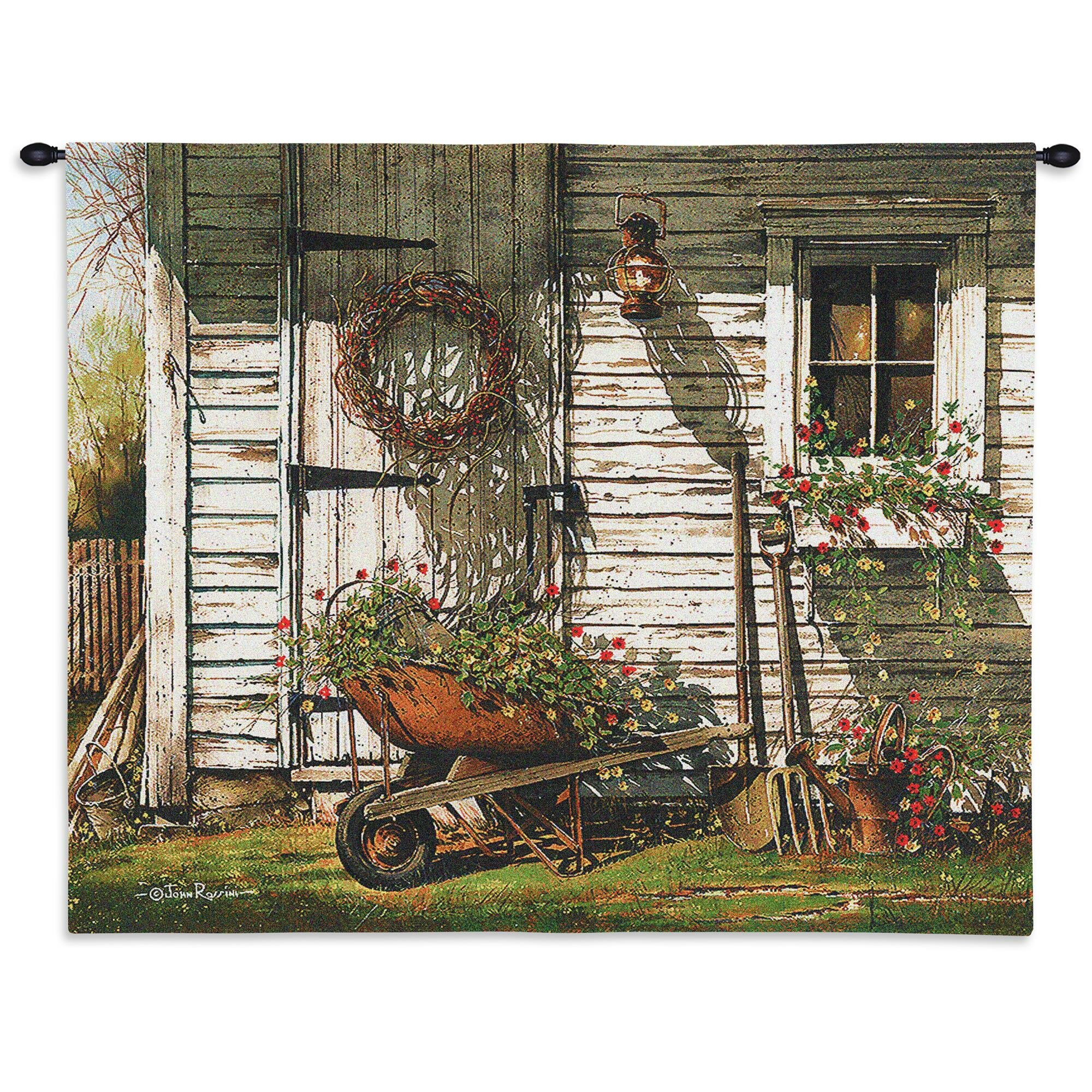 Spring Cleaning Tapestry Pertaining To Most Up To Date Blended Fabric Bellagio Scalinata Wall Hangings (View 15 of 20)
