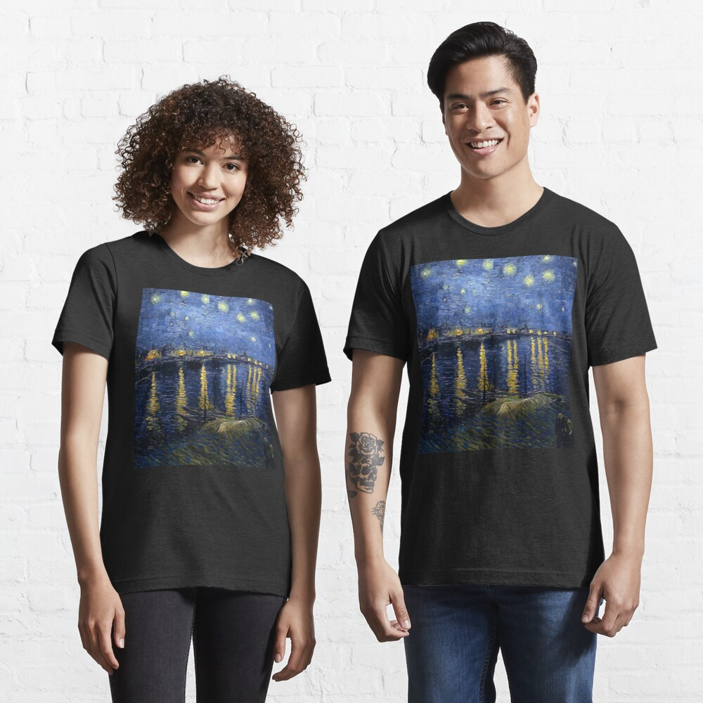 Starry Night Over The Rhone – Van Gogh | Essential T Shirt With Regard To 2018 Blended Fabric Van Gogh Starry Night Over The Rhone Wall Hangings (View 12 of 20)