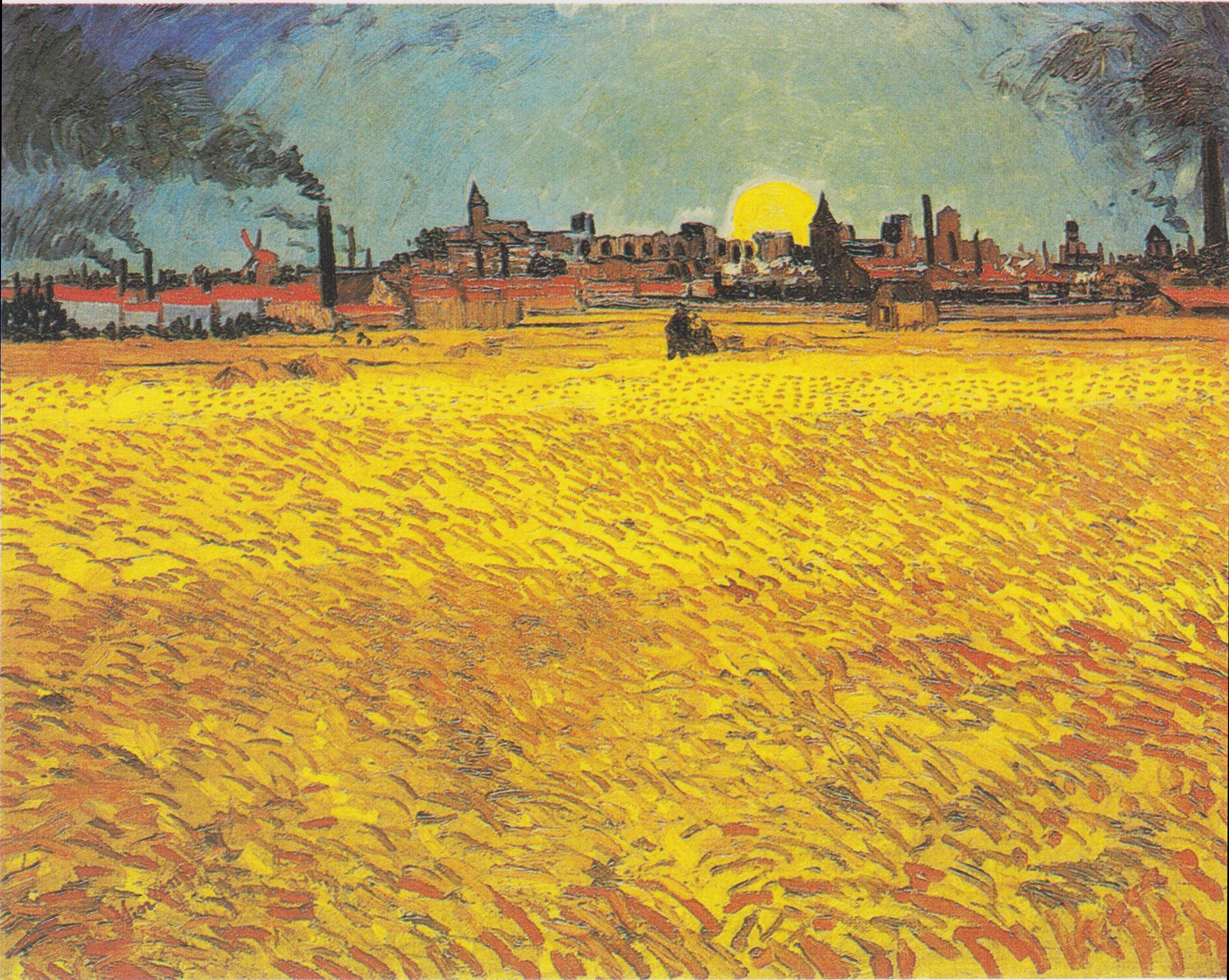 Sunset: Wheat Fields Near Arles, June 1888, Kunstmuseum Intended For 2018 Blended Fabric Van Gogh Starry Night Over The Rhone Wall Hangings (View 13 of 20)