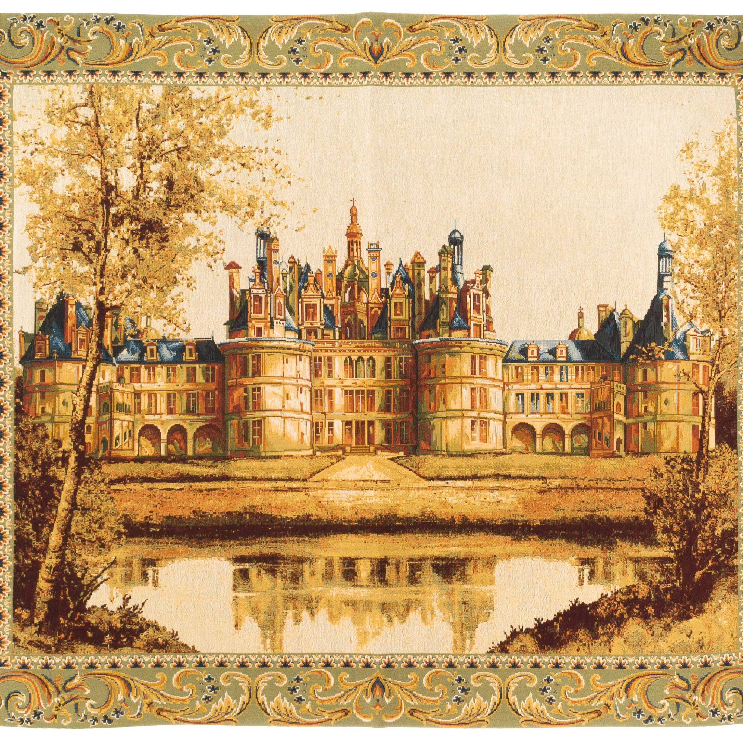 Tapestry Wall Hanging Chambord Castle – Frech Castle Pertaining To Most Recent Chambord Castle I European Wall Hangings (View 7 of 20)