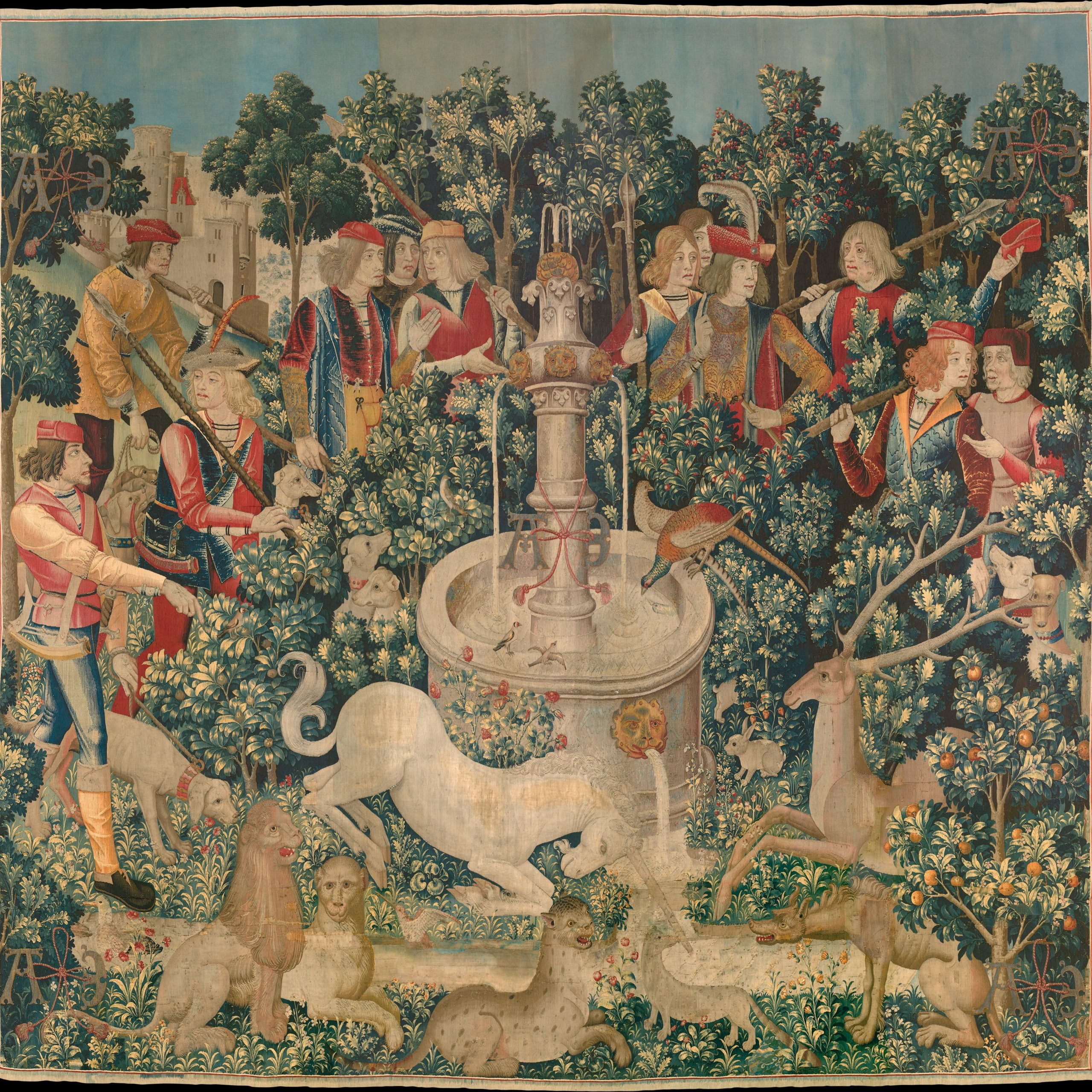 Tapestry – Wikipedia For 2018 Blended Fabric Verdure Au Chateau Ii European Tapestries (View 4 of 20)
